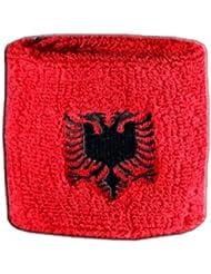 Schweißband Motiv Fahne / Flagge Albanien + gratis Aufkleber, Flaggenfritze®