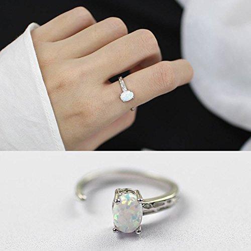 Silber S925 Sterling Silber Unregelmäßige Persönlichkeit Weiblichen Offenen Ring Schmuck , Gold , die Öffnung ist einstellbar ()