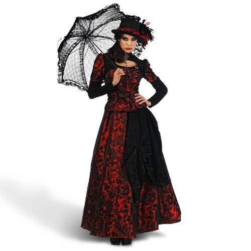 Lady Rose Historisches Kostüm Damen 3tlg Rock Bluse Hut Fackeln im Sturm Design - (Historische Kostüme Für Frauen)