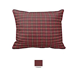 Patch Magic Fabric 27-Inch by 21-Inch Pillow Sham, Red-Rustic Plaid And Black Lines