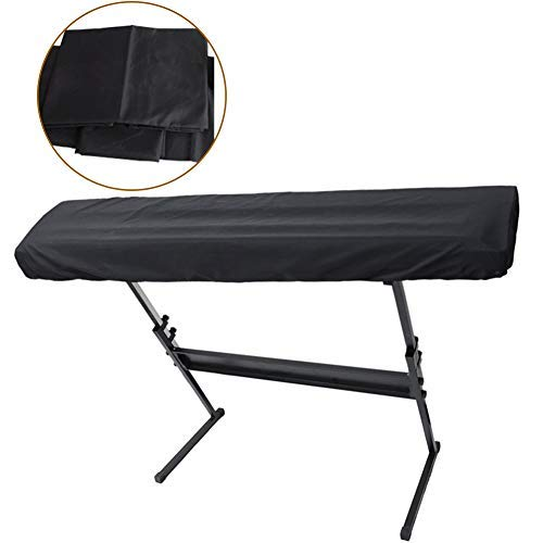 Copertina del Pianoforte, Portatile Prova Polvere Tastiera Elettrica Digitale Copertura Antipolvere per 88 Tasti Nero