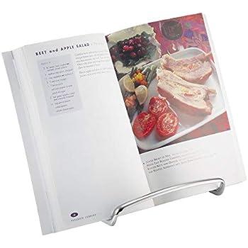 32 x 23,5 x 12 Relaxdays Lutrin de cuisine Support pour livre Porte-livre de recettes pupitre de lecture porte-livres en bambou HxlxP nature