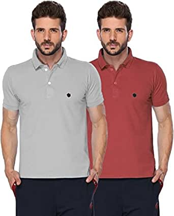 ONN Men's Cotton pack of 2 POLO T-Shirt (Small)