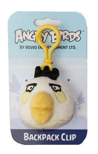 Angry Birds Backpack Clip - weisser Vogel als Schlüsselanhänger Plüsch ca. 9 cm