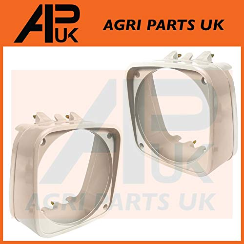 APUK PAIR of Grill Head light lamp Cowls Compatible with Ford New Holland  10 Series 2310-7810 Tractor