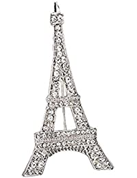 OULII Corpiño del desfile Iron Tower Suit Brooch Pin Breastpin para Business Wedding Party 5.5 x 3CM