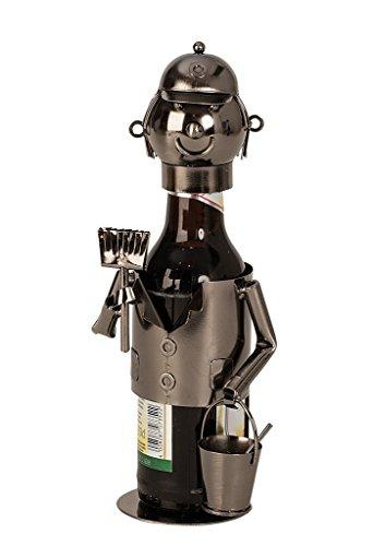 Flaschenhalter Bier aus Metall Maler Flaschenständer 23 cm hoch