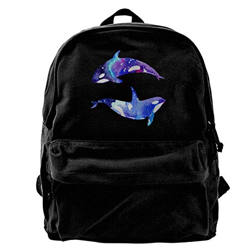 Rucksäcke, Daypacks,Taschen, Canvas Backpack Drawing Alpaca Unique Print Style,Fits 14 Inch Laptop,Durable,Black