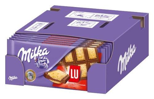 Milka Alpenmilch Schokolade LU Cracker 87g, 16er Pack