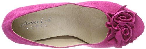 Andrea Conti 0733109 Damen Peeptoe Pumps Pink (Pink)