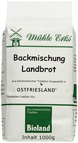 Erks Bio Back- Mischung Landbrot, 8er Pack (8 x 1 kg)