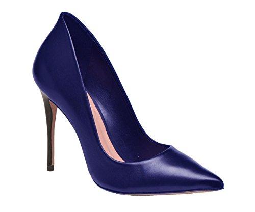 Escarpin en cuir Model Carlita par HGilliane Design Eu 33 au 44 Bleu