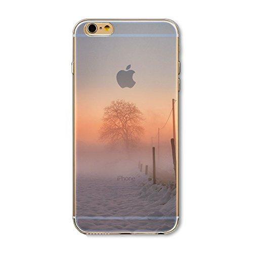 Coque iPhone 6 6s Housse étui-Case Transparent Liquid Crystal en TPU Silicone Clair,Protection Ultra Mince Premium,Coque Prime pour iPhone 6 6s-Paysage-style 6 1