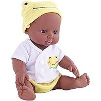 Kingko_ 12 inch Reborn Newborn Baby Dolls that Look Real Soft Vinyl Silicone Lifelike Black African American Full Body reborn Doll for Toddler Boys Girls Birthday Gift