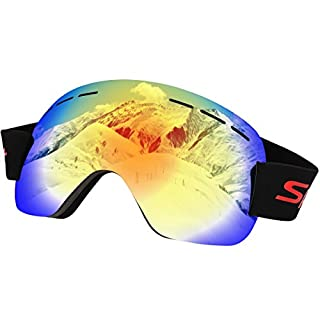 AISHN Skibrillen, Snowboardbrillen UV-Schutz Anti-Fog, verbesserte Belüftung für Ski Snowboarding Skating