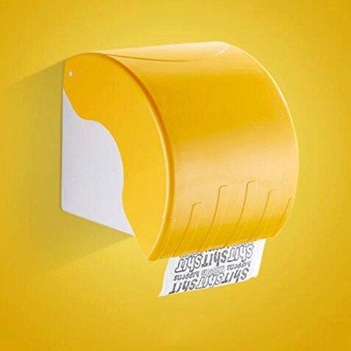 Toilettenpapier Handtuch Box Kleine Roll Papier Kiste Hängende Wand Roll Papier Handtuch Box Toilette Wasserdichte Papier Handtuch Box GAILILI Tissue-Box ( Farbe : Gelb ) Serviette De Li