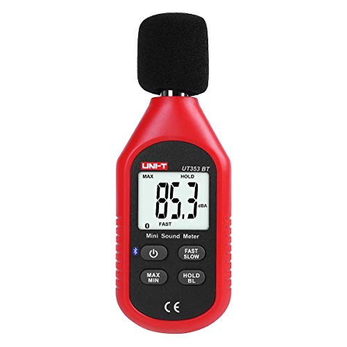 Uni-t Fonometro Professionale Decibel Meter UT353BT Bluetooth Mini digital fonometro Decibel 30d-130dBA...