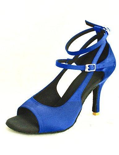 Dimensions shangyi ajustables–gefertigter Paragraphe–Satin–Latin/Salsa–Femme Bleu - bleu