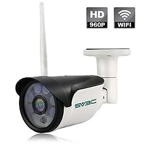 SV3C Telecamera IP Camera Esterno 960p Telecamera Videosorveglianza WIFI con Rilevamento del Movimento, Visione Notturna fino a 15m, Supporto TF Card da 64 GB, Protezione dall'acqua Certificata IP66, Vista a Distanza via Smart Phone /Tablet /PC Windows