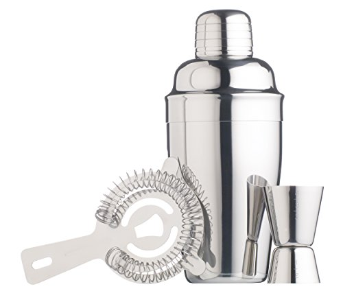Bar Craft M130222 - Set coctelera inox con medidor agitador