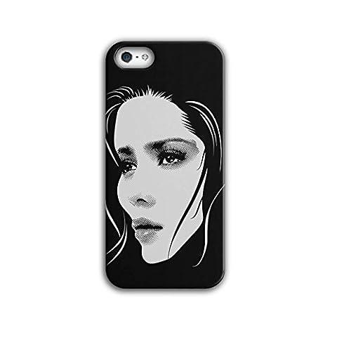 Mädchen Gesicht Stilvoll Mode Traum Mädchen iPhone 5 / 5S Hülle | Wellcoda (Ziemlich Weihnachten Kleider Für Mädchen)
