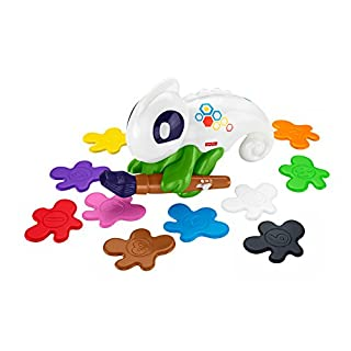 Fisher-Price FCG88 Lern-Chamäleon Kunterbunt interaktives Lernspielzeug für Farben, ab 3 Jahren