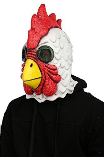 Halloween Helm Tier Roleplay Cosplay Cock Maske Erwachsene Latex Voll Kopf Kostüm Spiel Masken Merchandise
