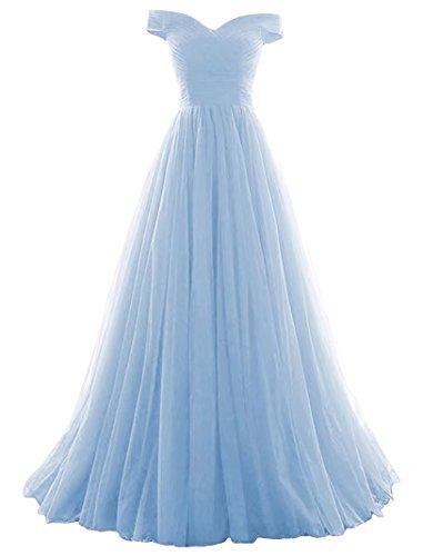 Vickyben Damen langes Ab-Schulter Tuell Prinzessin Kleid Abendkleid Ballkleid Brautjungfer kleid...