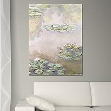 """Wandkings Leinwandbild """"Seerosenteich 1908"""" von Claude Monet / 60 x 80 cm / auf Keilrahmen"""