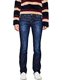 edc by ESPRIT Damen Stretch Organic Cotton Straight Jeans