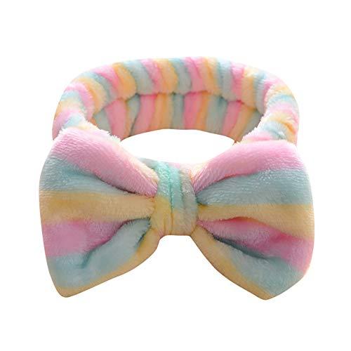 Dorical Stirnband 1-Pcs-Kopfband, Frauen Bogen Make-up Gesicht Waschen Haarband Kosmetische Elastische Stirnband Weiche Waschung Elastischer Bogen Handtuch,Haarschmuck Haar Wrap für Make-up(G) (Hippie Make Up Und Haare)