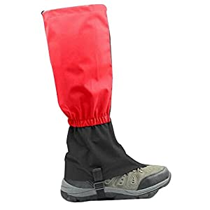 41LT0l%2BGlML. SS300  - Blancho Outdoor Thickening Hiking Gaiters Snow Boot Gaiters Leg Gaiters, Red, 17.7''