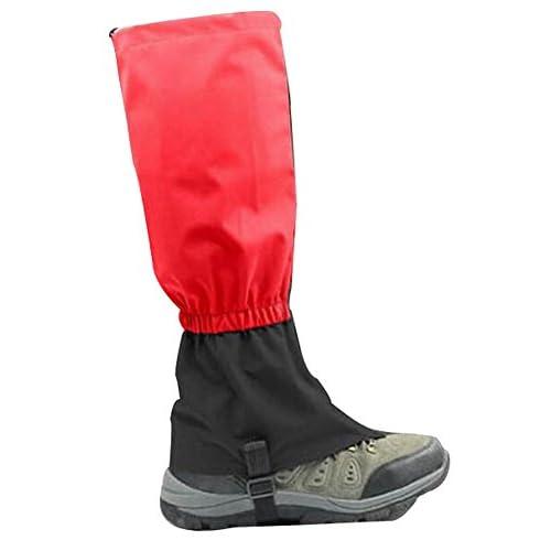 "Blancho Outdoor Thickening Hiking Gaiters Snow Boot Gaiters Leg Gaiters, Red, 17.7"""