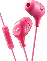 JVC HAFX38MP Marshmallow(R) Inner-Ear Headphones with Microphone (Pink)