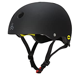Triple 8 New York 3152 Brainsaver II MIPS - Casco de Goma, Color Negro, Talla XL
