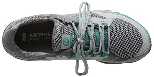 Merrell - All Out Charge, Scarpe Da Trail Running da donna Light Grey/Dynasty Green