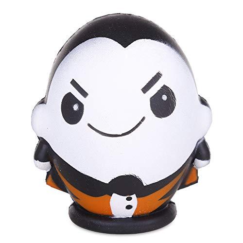 Anboor Squishies Halloween Mann Junge Puppe Langsam Steigend Squeeze Quetschen Spielzeug Slow Rising Antistress Squishies Speelgoed Spielzeug für Kinder Erwachsene (11*9.5*9cm, 1 Stück)