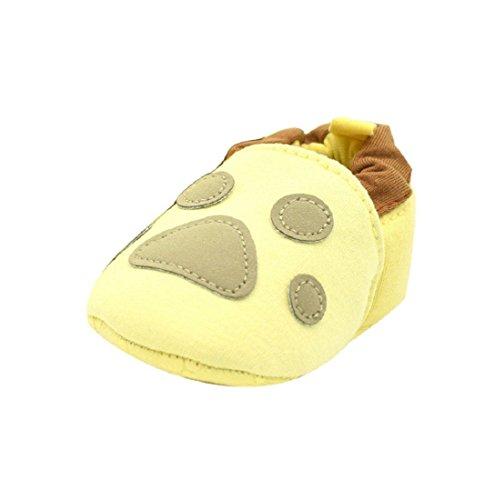Meses Para 0-18, Auxma Suaves Baby-jovens-menina-shoes Sneaker-antiderrapantes Sapatos Único-criança (6-12 M Café,) Amarelo