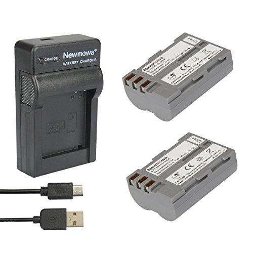 Newmowa Ersatz Akku EN-EL3 (2er Pack) und Tragbar Micro USB Ladegerät Kit für Nikon EN-EL3,Nikon EN-EL3e und Nikon D50, D70 D70s D80 D90 D100 D200 D300 D300S D700 1a Power Supply Kit