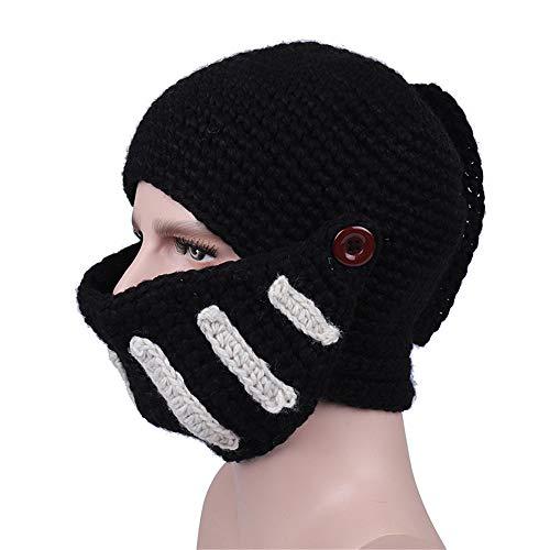 Ostern beste Geschenke !!! Beisoug Roman Gladiator Ritter Manuelle Strickmütze Winter Unisex Warme Mode Lässig Maske Kappe (25 ()