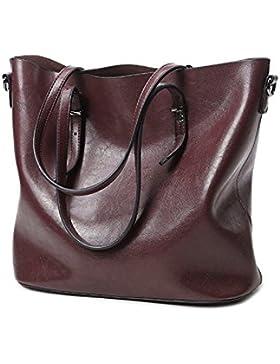 YAAGLE Neu Elegant große Handtasche Europäische Stil Leder Schultertasche Weich Schulterbeutel Abendtaschen