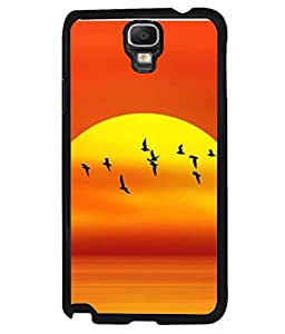 PrintVisa Designer Back Case Cover for Samsung Galaxy Note 3 Neo :: Samsung Galaxy Note 3 Neo Duos :: Samsung Galaxy Note 3 Neo 3G N750 :: Samsung Galaxy Note 3 Neo Lte+ N7505 :: Samsung Galaxy Note 3 Neo Dual Sim N7502 (Sun rise birds sea water)