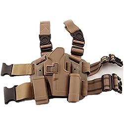 H World EU la jambe de tactique étui cuisse droite w / magazine torche pouch glock 17 19 22 23 31 32 (de)