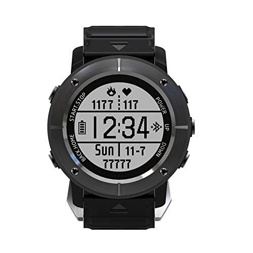 Lamptti UW80C GPS-Wander-Smartwatch, Abenteurer, Outdoor-Sport, wasserdicht, Multifunktions-Modus, für Laufen, Wandern, Herzfrequenz-Monitor, SOS, Kompass, Armbanduhr mit Smart-Handy-App, grau, (Herzfrequenz-monitor Wandern)