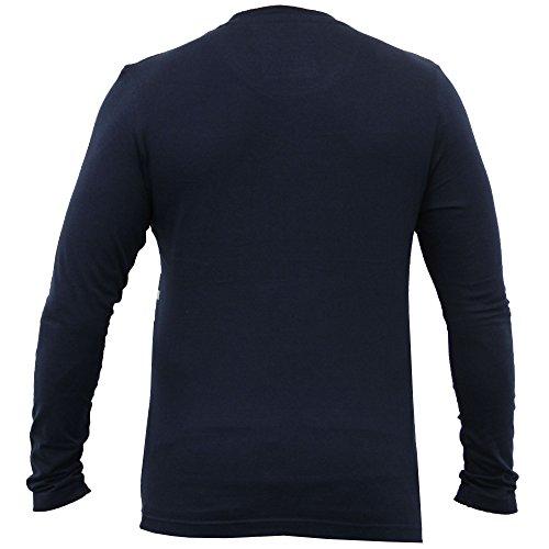 Herren Langärmlig Gestreift Jersey Top T Shirt By Brave Soul Marineblau - 69FRED
