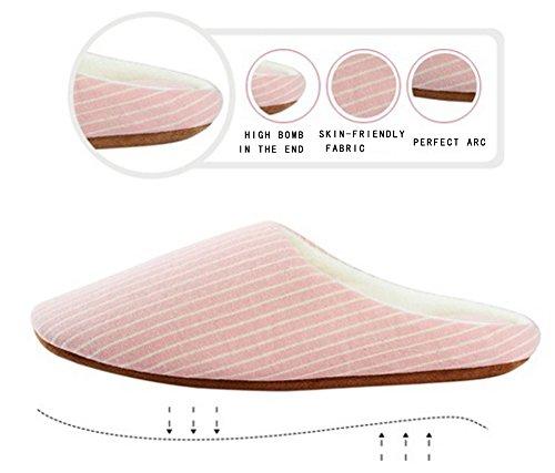 Maesty-eu Hommes Maison Pantoufles Femmes Mémoire Mousse Intérieur Glisser Chaussures Hiver Coton Maison Pantoufle Poudre