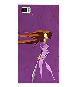 EPICCASE Girl With Sword Mobile Back Case Cover For Xiaomi Mi3 (Designer Case)