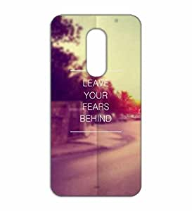 Happoz Leave fear motivational quote Lenovo Vibe X3 mobile cover Mobile Phone Back Panel Printed Fancy Pouches Accessories Z557