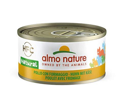 Almo Nature HFC Natural Katzenfutter -  Huhn mit Käse 24x70 g