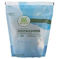 Grab Green Natural Automatic Dishwashing Detergent, Fragrance Free, 60 Loads